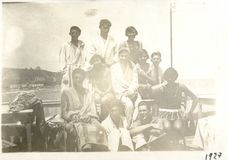 Altes rumänisches Bild 1927 Weinlese-Küsten-Schwarzen Meers Stockfotografie