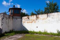 Altes russisches Gefängnis stockfoto