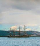 Altes russisches Schiff bei Island Stockfoto
