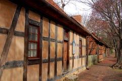 Altes Salem, NC: Historische Moravian Gebäude Stockbilder