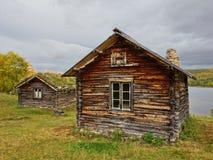 Altes sami Dorf Lizenzfreies Stockfoto