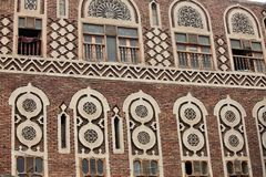 Altes Sanaa-Gebäude - der Jemen lizenzfreie stockfotografie