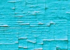 Altes schäbiges geknistertes blaues Wand surrface Stockbild