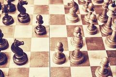 Altes Schach Stockfotos