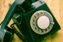 altes Scheibentelefon Kommunikationsmittel der Vergangenheit Stockfotos