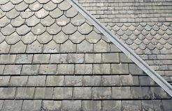 Altes Schiefer-Dach Stockfotos
