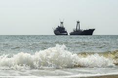 Altes Schiff gestrandet Stockfotografie