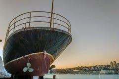 Altes Schiff im Hafen von Rijeka Lizenzfreie Stockbilder