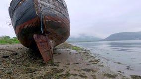 Altes Schiffswrack in Fort William, Schottland stock video