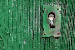 Altes Schlüsselloch Stockbild