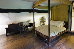 Altes Schlafzimmer Stockfoto