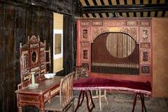 Altes Schlafzimmer von China lizenzfreie stockfotos