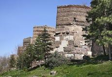 Altes Schloss in Ankara Die Türkei Stockfoto