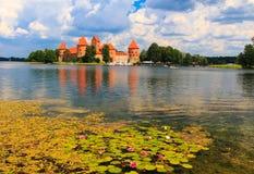 Altes Schloss auf der Insel, die Stadt von Trakai, Litauen Lizenzfreies Stockbild