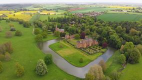 Altes Schloss auf Insel stock video footage