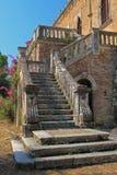 Altes Schloss auf Korfu-Insel Griechenland Lizenzfreies Stockfoto