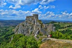 Altes Schloss an der richtigen Stelle Srebrenik Stockbild