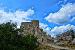 Altes Schloss an der richtigen Stelle Srebrenik Lizenzfreie Stockfotografie