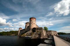 Altes Schloss in Finnland stockfotos