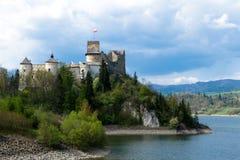 Altes Schloss in Niedzica Stockbild