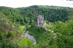 Altes Schloss. Rhein River Valley Lizenzfreies Stockfoto