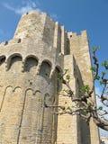 Altes Schloss unter blauem Himmel Stockbilder