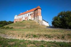 Altes Schloss vom 14. Jahrhundert in Sandomierz befindet sich durch die Weichsel Stockfoto