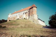 Altes Schloss vom 14. Jahrhundert in Sandomierz befindet sich durch die Weichsel Lizenzfreies Stockfoto