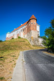 Altes Schloss vom 14. Jahrhundert in Sandomierz befindet sich durch die Weichsel Stockbild