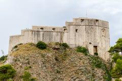 Altes Schloss von Lovrijenac in Dubrovnik lizenzfreie stockfotografie