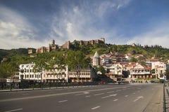 Altes Schloss von Tbilisi Narikala Lizenzfreie Stockbilder