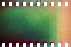 Altes Schmutz filmstrip stockbild