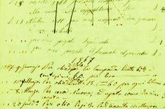 Altes Schreiben Lizenzfreies Stockbild