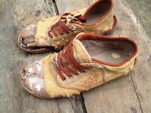 Altes Schuh togather Stockfotos