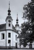 Altes Schwarzweiss-chuch stockfotos