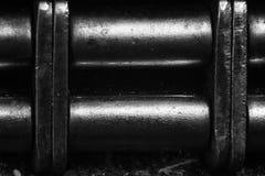 Altes Schwarzweiss-Scharnier ist Makro lizenzfreie stockfotografie