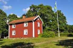 Altes schwedisches Haus Lizenzfreie Stockfotografie