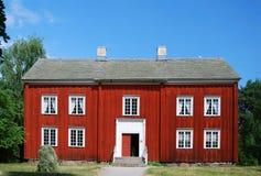 Altes schwedisches Haus in Scansen. Stockfotos