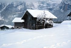 Altes Schweizer Häuschen Stockbild