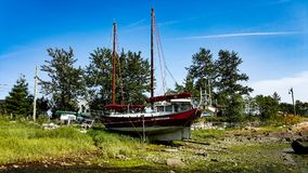 Altes Segel-Boot Stockfotografie