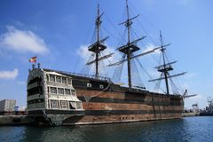 Altes Segelnboot Stockfotos