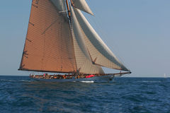 Altes Segelnboot Stockfoto