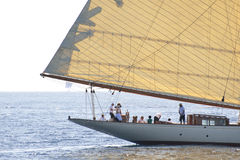 Altes Segelnboot in den Imperia Lizenzfreie Stockfotografie