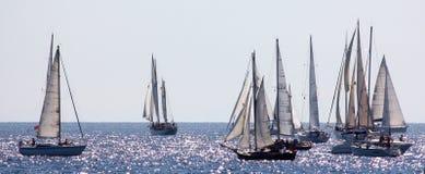 Altes Segelnboot im Panerai Klassiker Yachts Lizenzfreies Stockfoto