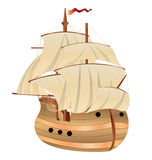 Altes Segelschiff stock abbildung