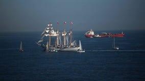 altes Segelschiff stock footage