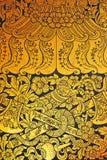 Altes siamesisches Muster auf Wand Lizenzfreies Stockbild