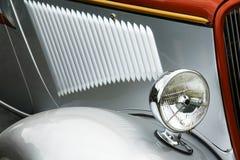 Altes silbernes Autodetail Stockfotografie