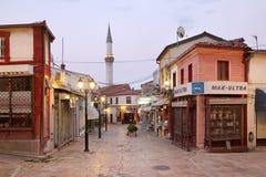 Altes Skopje stockfotos