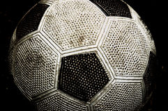 Altes Soccerball Stockfotos